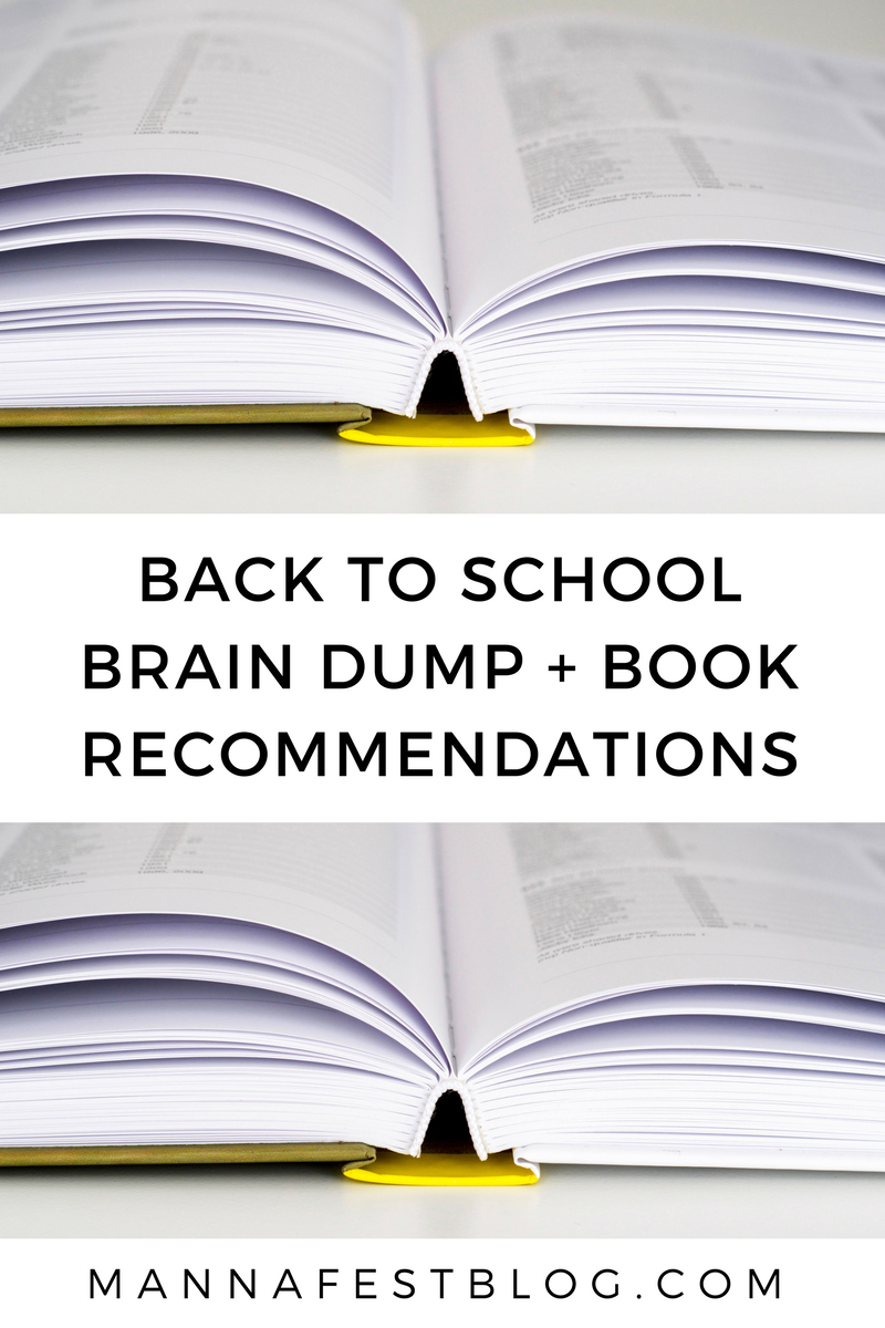 Back to School Book Recommendations